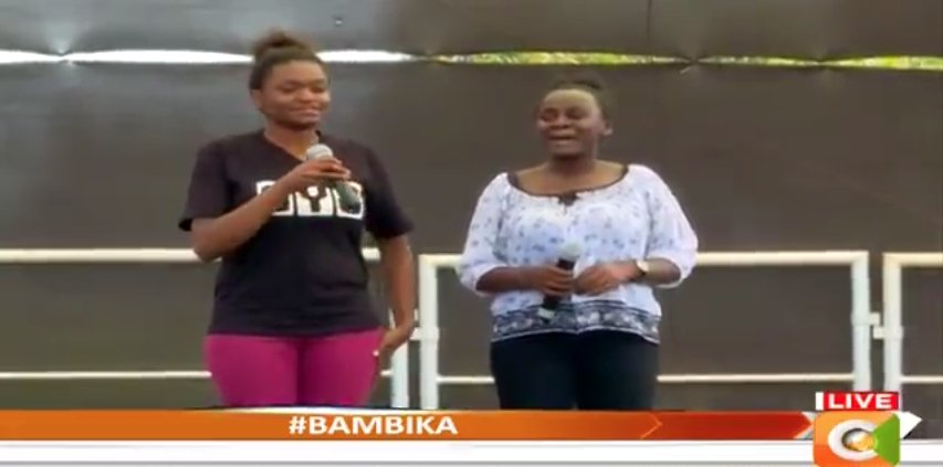 What a talent; blessed with beautiful voices   Lydia & Ruphina performing 'Najua Hutaniacha' by Makena #Bambika