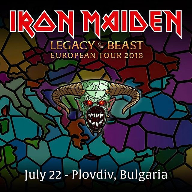 Run to the Hills... of Rock! See you later Plovdiv! #bepartofthelegacy #legacyofthebeasttour #ironmaiden #plovdiv #bulgaria
