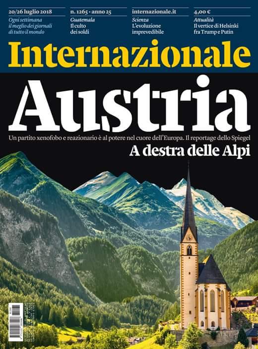 Austria, a destra delle Alpi. Un partito xenofobo e reazionario è al potere nel cuore dell'Europa. La copertina di Internazionale. https://t.co/gI7YDXMr0S