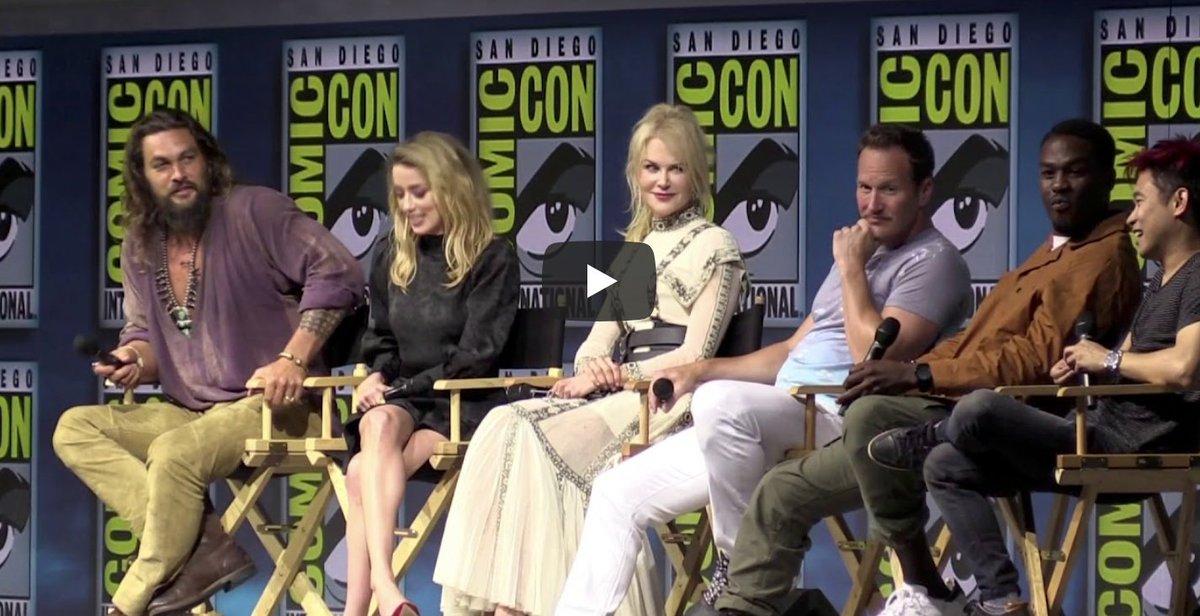 MOVIES #Aquaman #SDCC Panel [VIDEO] #ComicCon #SDCC2018 spoiltv.me/2uRozor