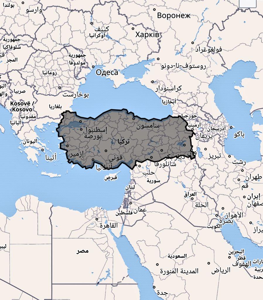 اين تقع تركيا