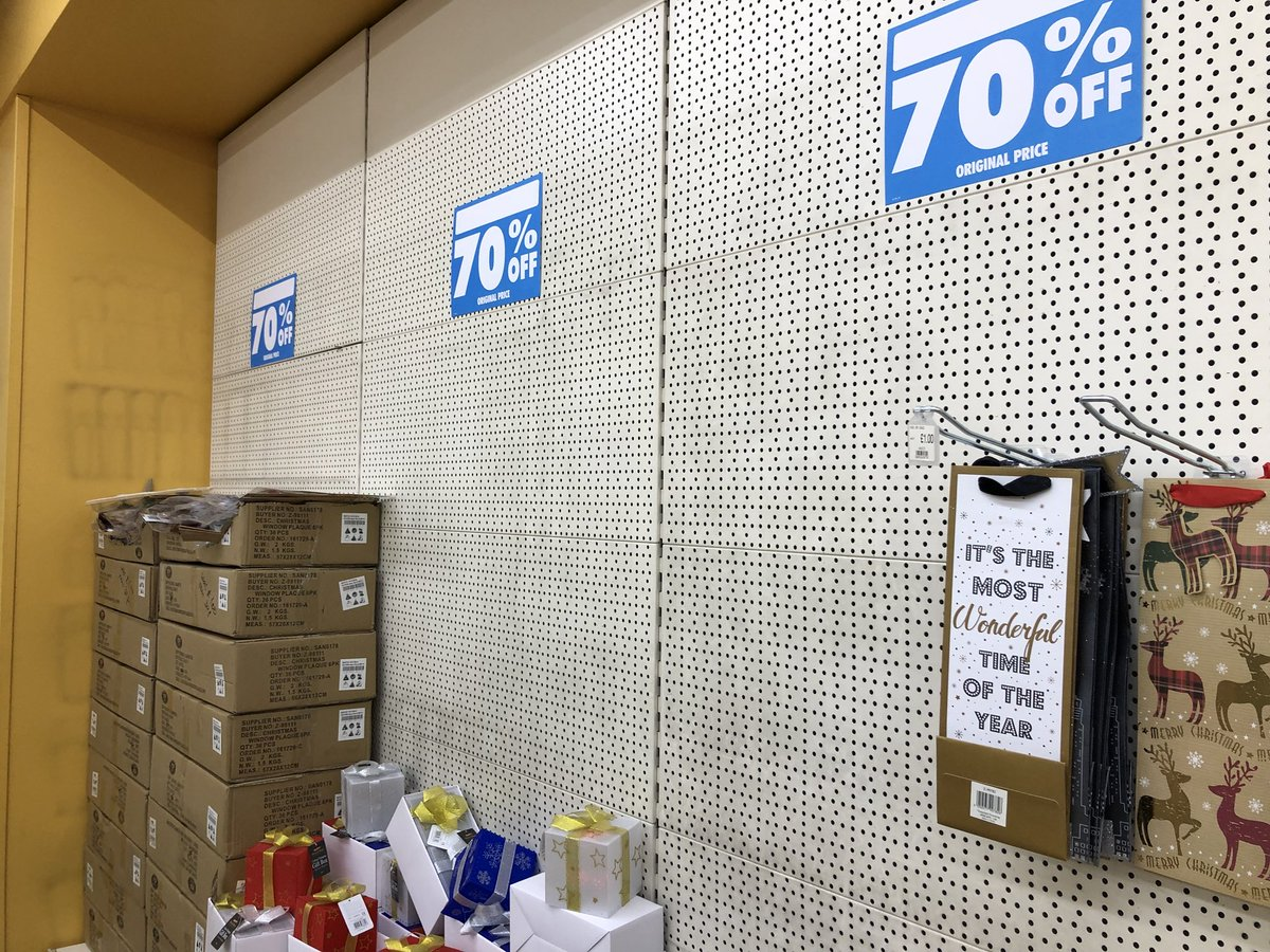 The bleakest place in the UK on this sunny afternoon is the Poundworld closing down sale 70% off Christmas goods aisle.