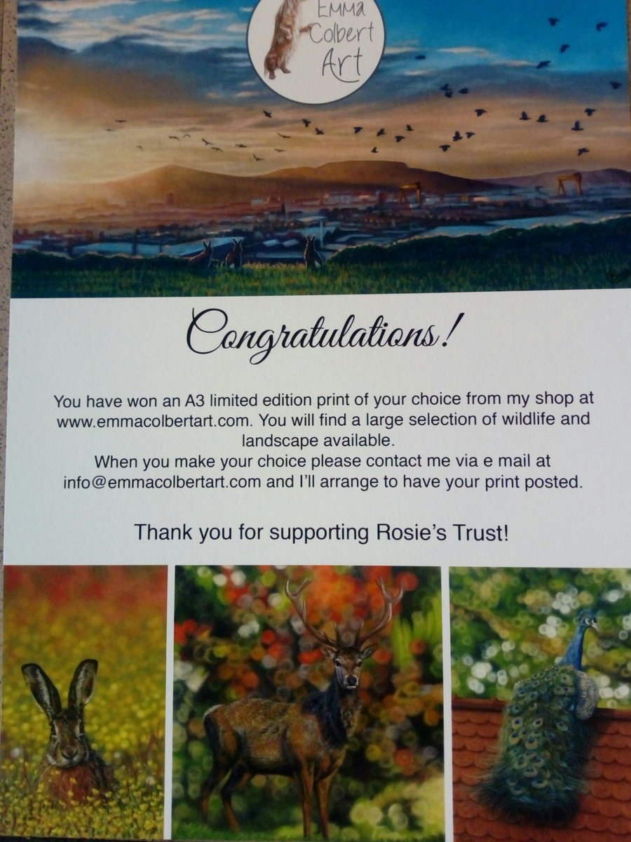 Thanks a million to @emmacolbertart who is donating one of her wonderful prints as a prize in our Summer Raffle