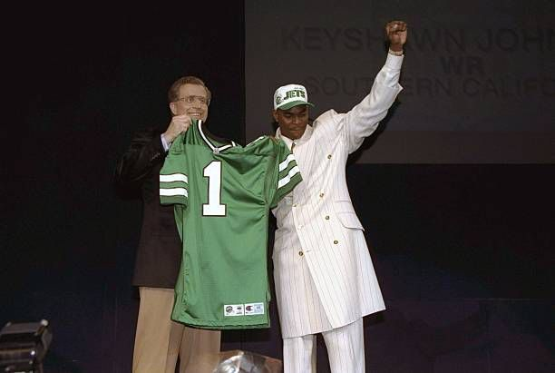 .@Keyshawn Johnson - the only Jets player to be taken with the No. 1 overall pick in the NFL Draft - turns 46 today.