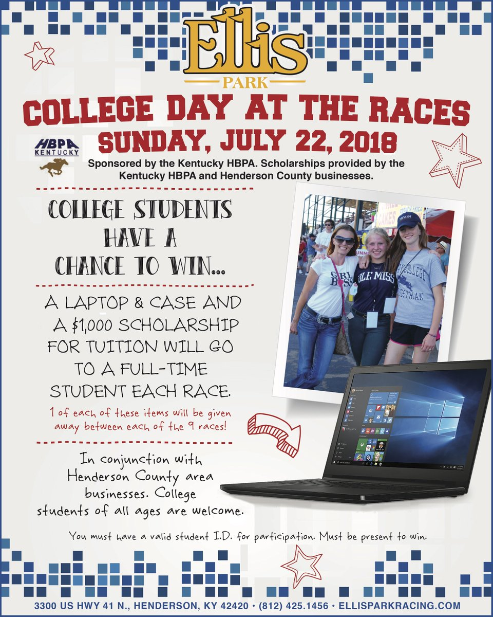 Ellis Park Racing On Twitter Join Us Today For Kyhbpa College Day