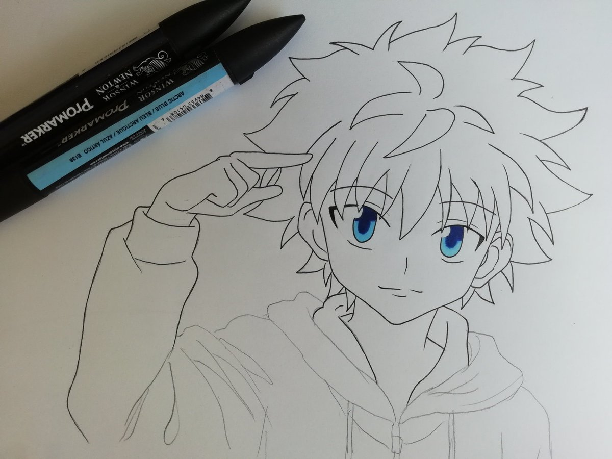 It is a graphic of Declarative Hunter X Hunter Xname Drawing