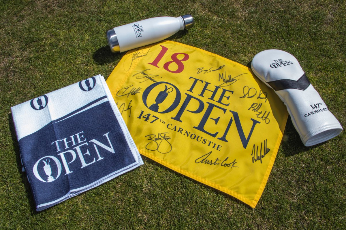 Straight from Carnoustie. RETWEET for a chance to win a signed flag from #TeamPING and merch from #TheOpen. (Random winner announced here, 7/23. Must follow us to win.)