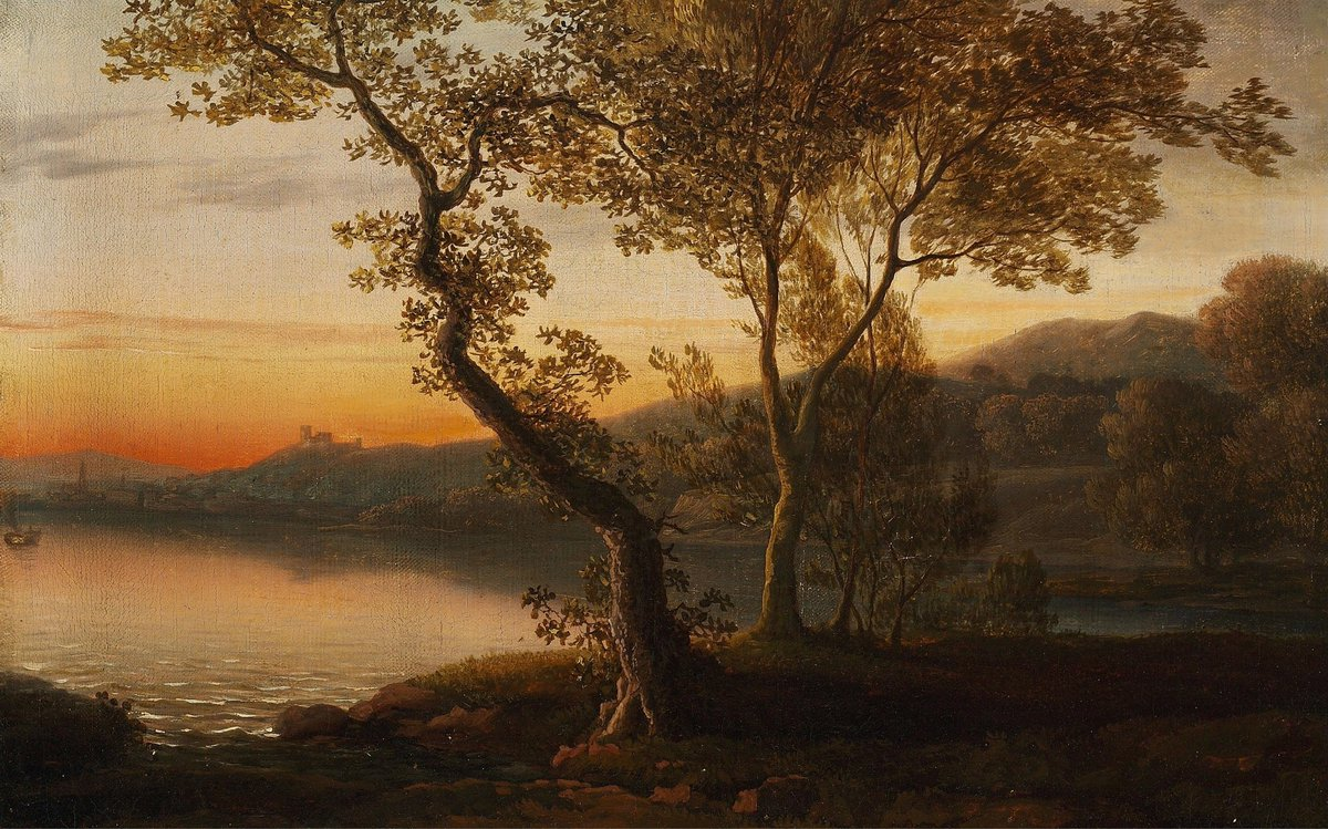#TheNewPainting  Jens Juel (12 May 1745 – 27 December 1802) was a Danish painter, primarily known for his many portraits, of which the largest collection is on display at Frederiksborg Castle.  A late evening after sunset. Twilight. 1780s ?  Bruun Rasmussen  #HistoryofPainting<br>http://pic.twitter.com/qrUS1urRfX