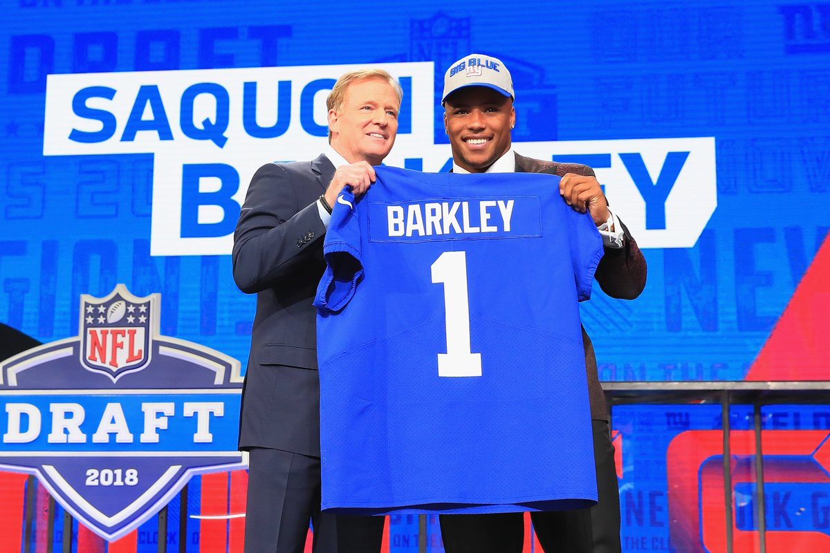 The Giants signed Saquon Barkley to a four-year, $31.2 million deal, per @RapSheet