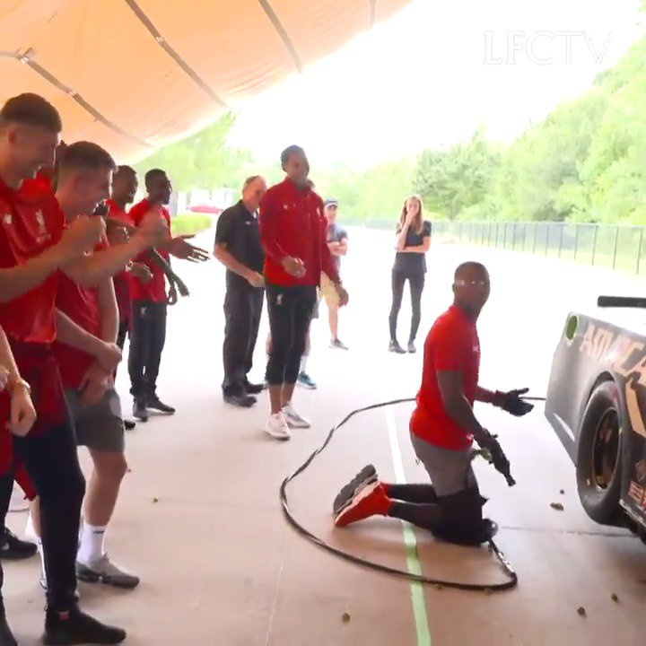 .@roushfenway x @LFC ����  The Reds tackle the @NASCAR pit stop challenge: https://t.co/MU5dE6XoMr https://t.co/ME3uXzhy8Z