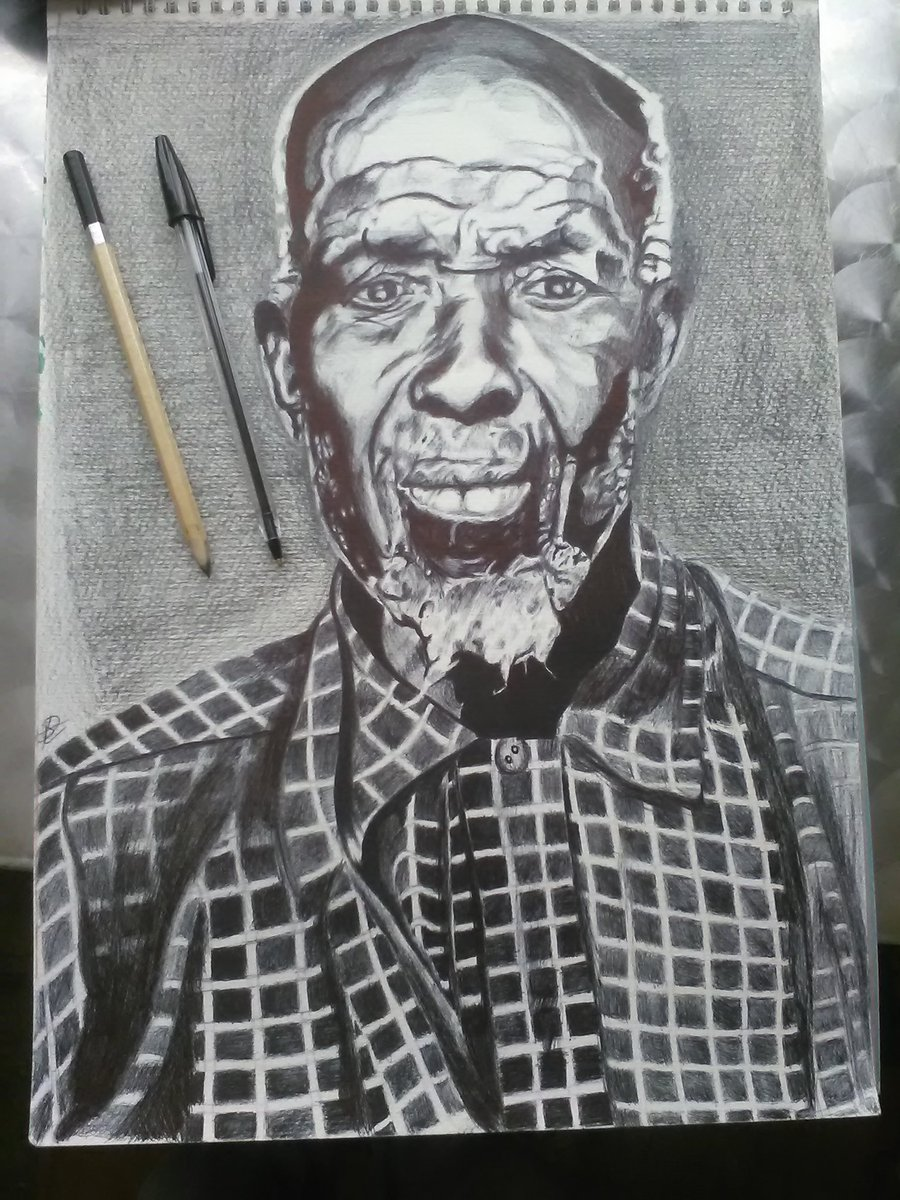 @africanarchives @HistoryHeroes a drawing of Cudjoe Kazoola Lewis that Ive just finished.
