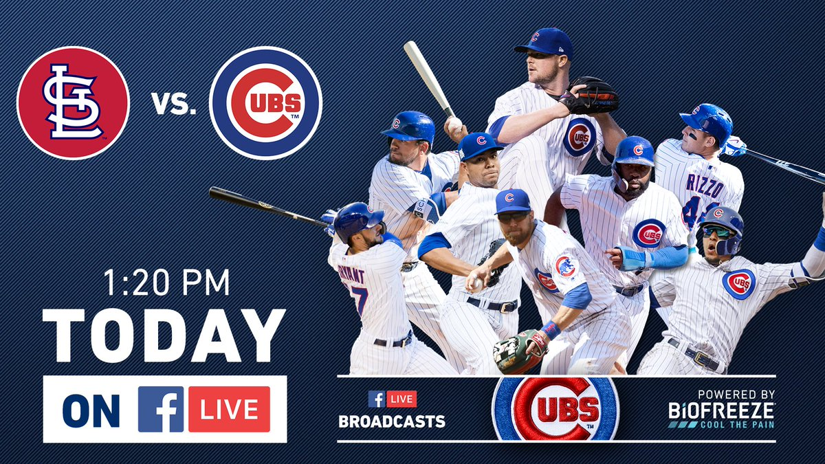 Watch today's #Cubs-Cardinals game on Facebook Live in the Chicago market: https://t.co/RYXyMMaVqM