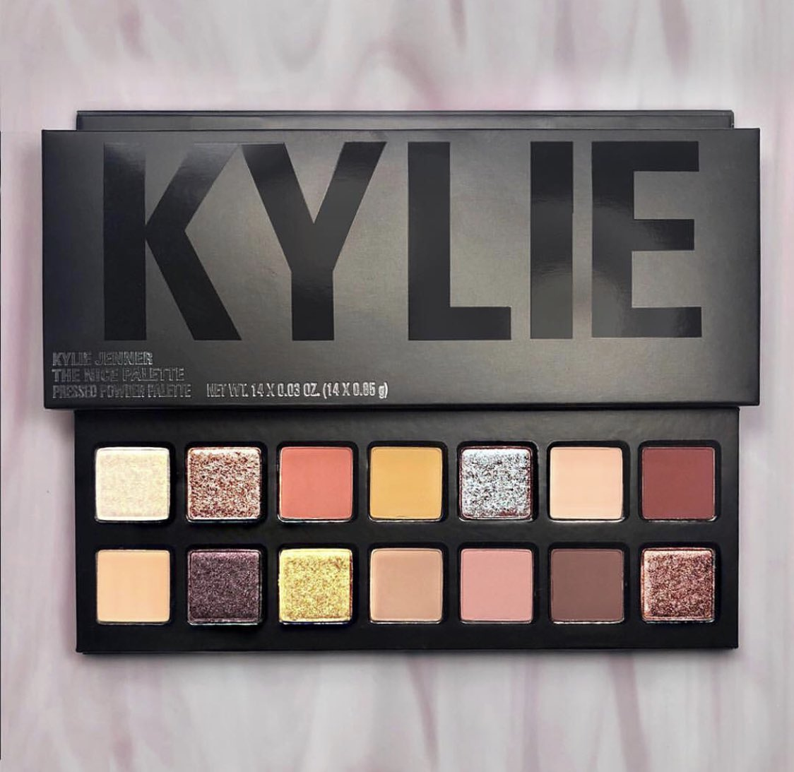 She is BACK in a new Black Packaging  The Nice #EyeshadowPalette from  @kyliecosmetics #Holidays2017 #Collection  Has a mix of finishes, matte, metallic and duochrome. Super wearable palette with warm shades. Online  JULY 24TH<br>http://pic.twitter.com/tVDpCCEafm
