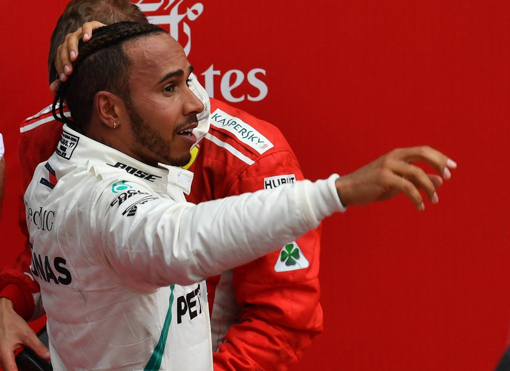 Lewis Hamilton investigation continues  From #SkyF1#s James Galloway: 'Still nothing official but Lewis Hamilton out of stewards and tells media the win 'won't be taken away'. He's smiling and reflecting on 'intense day'  LATEST: https://t.co/b3qcRtpmA2