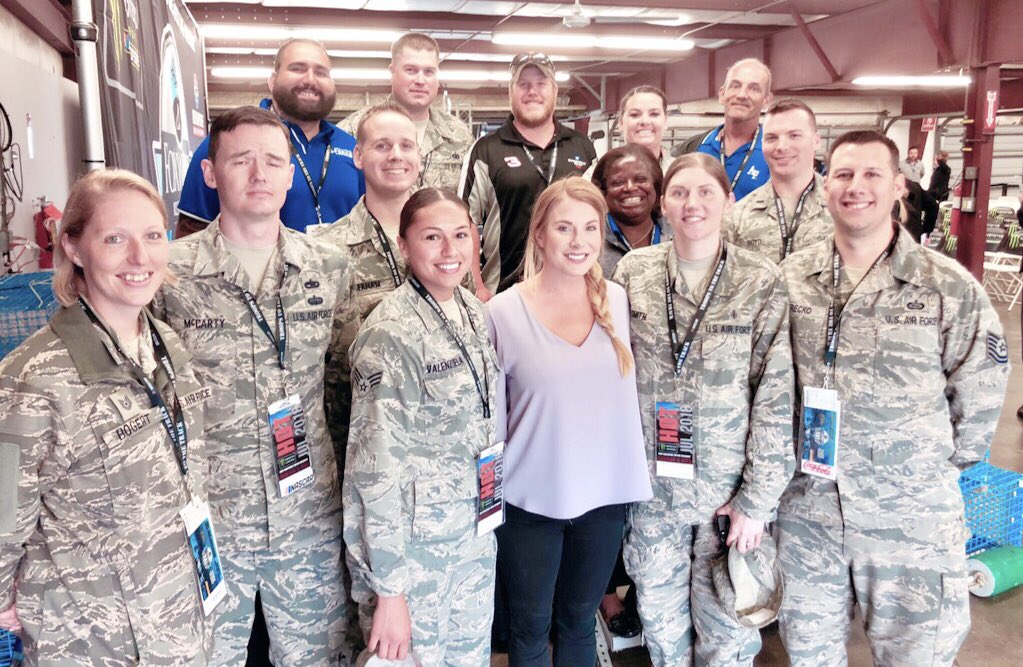 Great to spend time with the Airmen from Hanscom AFB this morning. I have met with the troops at numerous events this year and they are always the most gracious and kind individuals, who are so grateful to take in a race.   These are the true heroes.👇🏻🇺🇸