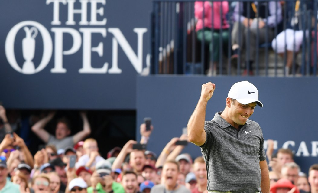 💨 Battling 25mph winds 🐯 Playing with Tiger Woods 🏌️♂️ Contending with the likes of Rory McIlroy and Jordan Spieth  👏 All without dropping a single shot all day.  🏆 Francesco Molinari, Champion Golfer of the Year.
