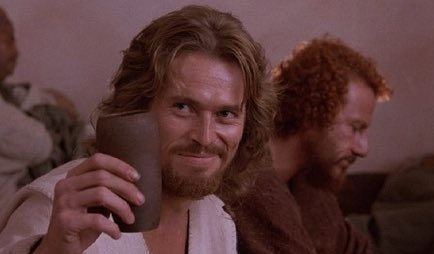 Happy birthday to Willem Dafoe, who starred in Martin Scorsese s greatest film, The Last Temptation of Christ.