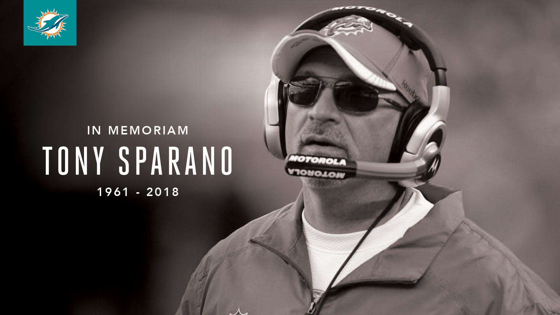 Our thoughts and prayers are with the family and friends of Coach Tony Sparano. https://t.co/UVxieE1Q6U