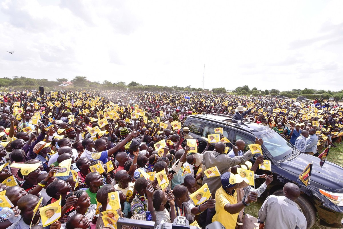 I thank the people of Kotido Municipality for turning up in big numbers at the rally I addressed today as I solicited support for the NRM parliamentary flagbearer, Peter Abrahams Lokii and the mayoral candidate, Ismail Lomwa.