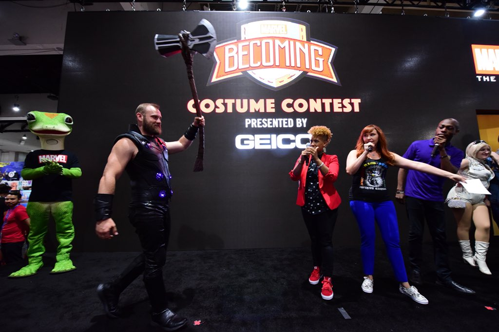 We're impressed! Watch the #MarvelBecoming costume contest from #MarvelSDCC now: https://t.co/rJIPXTrmaz https://t.co/uWosWc70KY