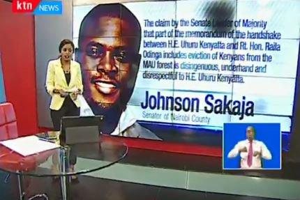 Sakaja: The claim by the Senate Leader of Majority that part of the memorandum of the handshake between H.E. Uhuru Kenyatta and Rt. Hon. Raila Odinga includes eviction of Kenyans from the MAU forest is disingenuous, underhand and disrespectful to H.E. Uhuru Kenyatta #Checkpoint