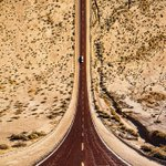 This photographer uses drones, 3-D rendering, and Photoshop to create a warped view of the world. He meandered 12,000 miles through 5 states to get these shots, and rarely saw anyone beyond fellow travelers at lunch: https://t.co/toQBjYGehh