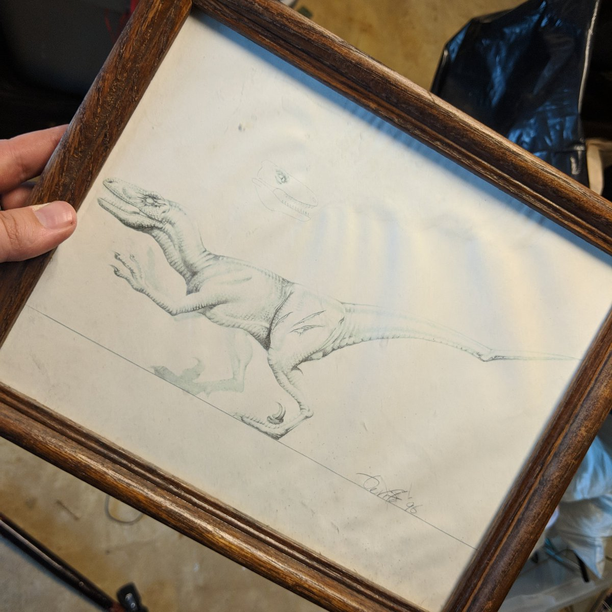 I thought I lost it. One of the original sketches for TLW toy. The Cyclops Raptor. @BradJost @JurassicParkPod @JurassicOutpost<br>http://pic.twitter.com/TFduLNH8yt