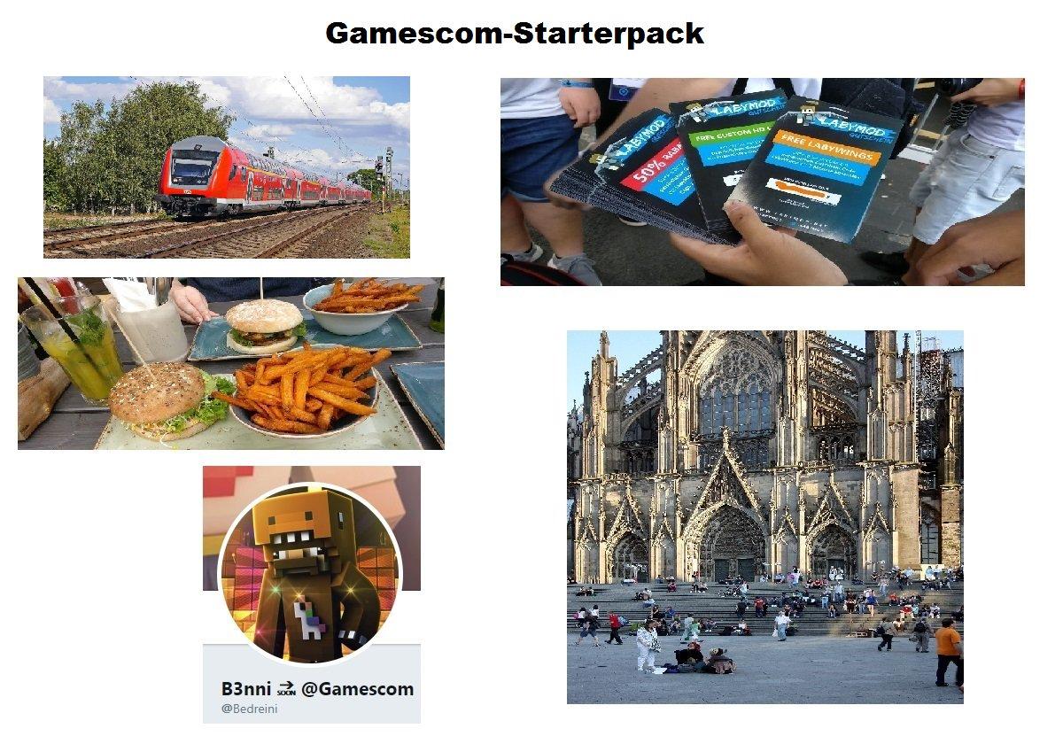 Gamescom-Starterpack: <br>http://pic.twitter.com/8cUdZAorUN