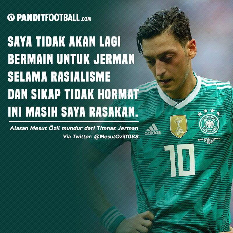Di usianya yang masih 29 tahun keputusan Mesut Ozil untuk mundur dari Timnas Jerman sangat mengejutkan, apalagi mendengar alasannya mengambil keputusan tersebut. Selengkapnya panditfootball.com/berita/211735/…