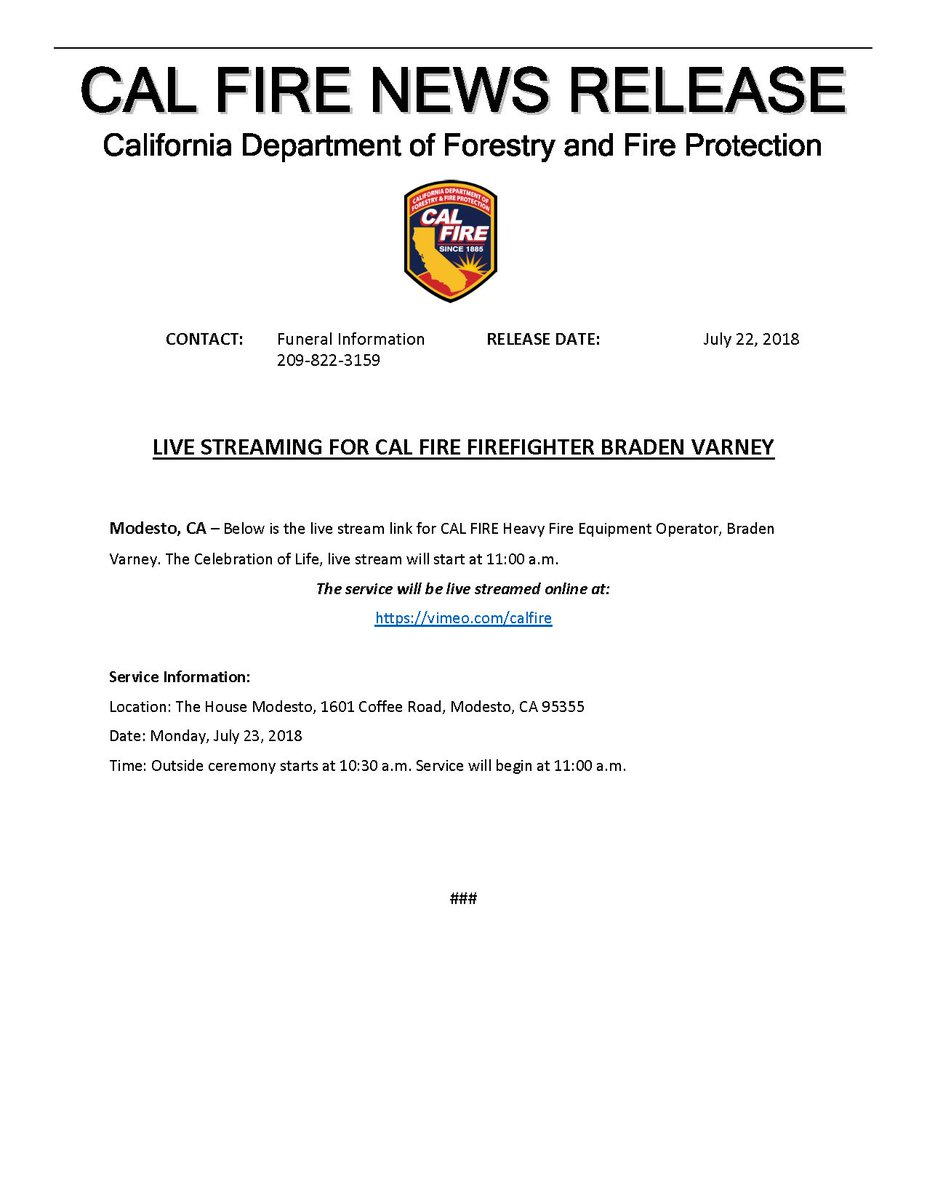 CAL FIRE on Twitter: