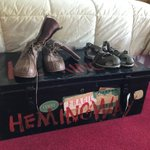 Image for the Tweet beginning: Hemingway's shoes on the trunk.