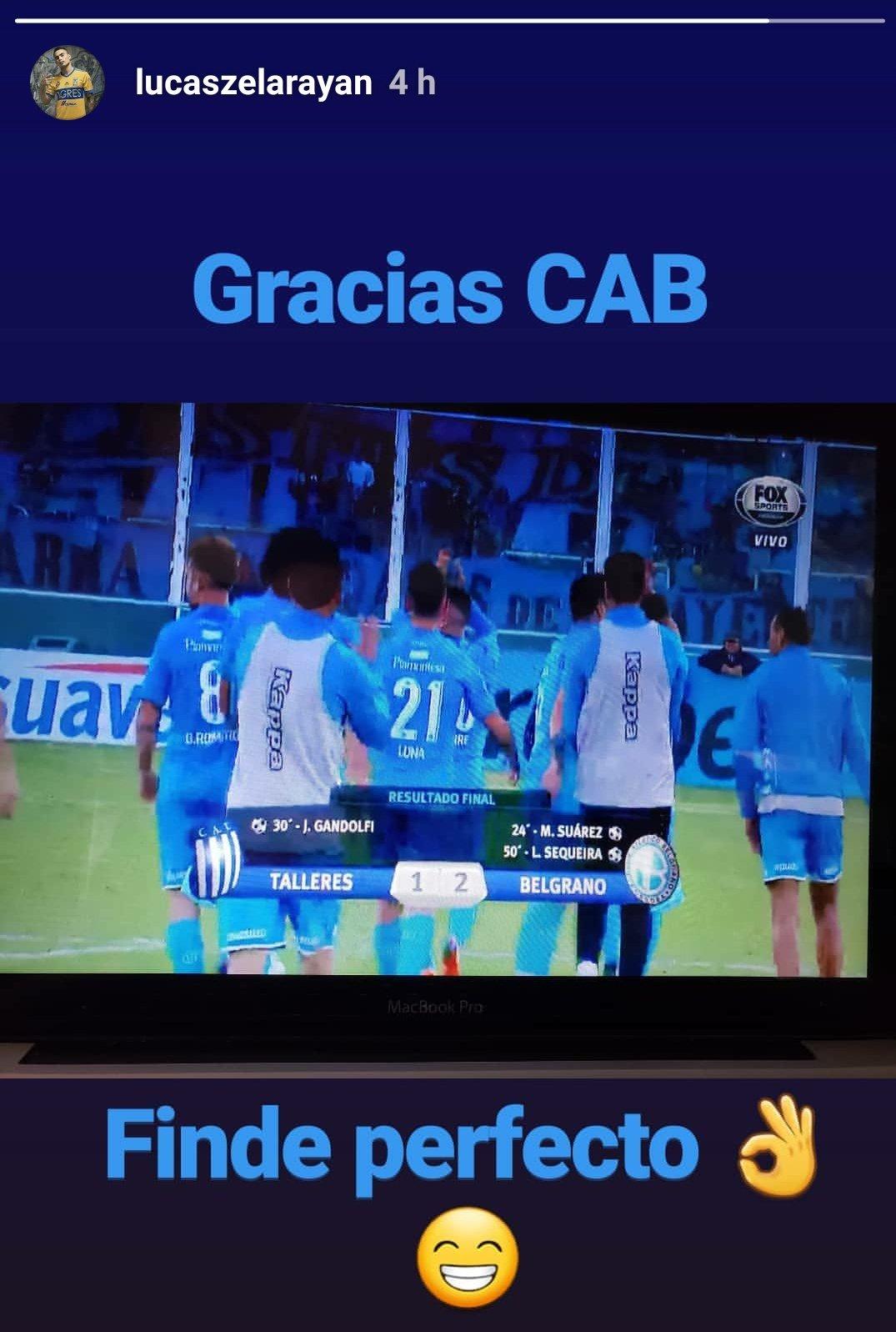 ��⚽��☠️ @Lucazelarayan31 disfrutó del triunfo de #Belgrano desde México. https://t.co/SxK1rZPNd4