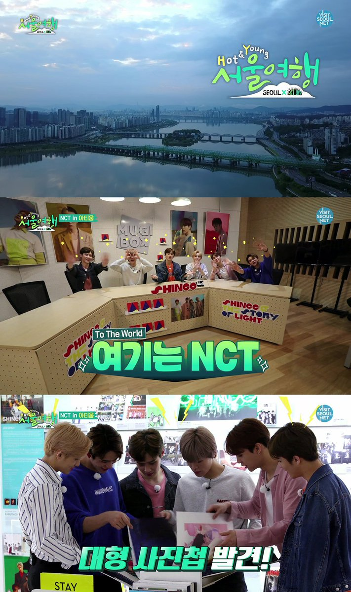 #NCT's new reality show 'Hot&Young Seoul Trip' airs the first episode at 11AM KST today! Check out JOHNNY, MARK, LUCAS, WINWIN, KUN, and YUTA's recommended spots to visit in Seoul from the show!   📺Every Mon., Wed., Friday at 11AM KST via 'Visit Seoul' website&YouTube channel)