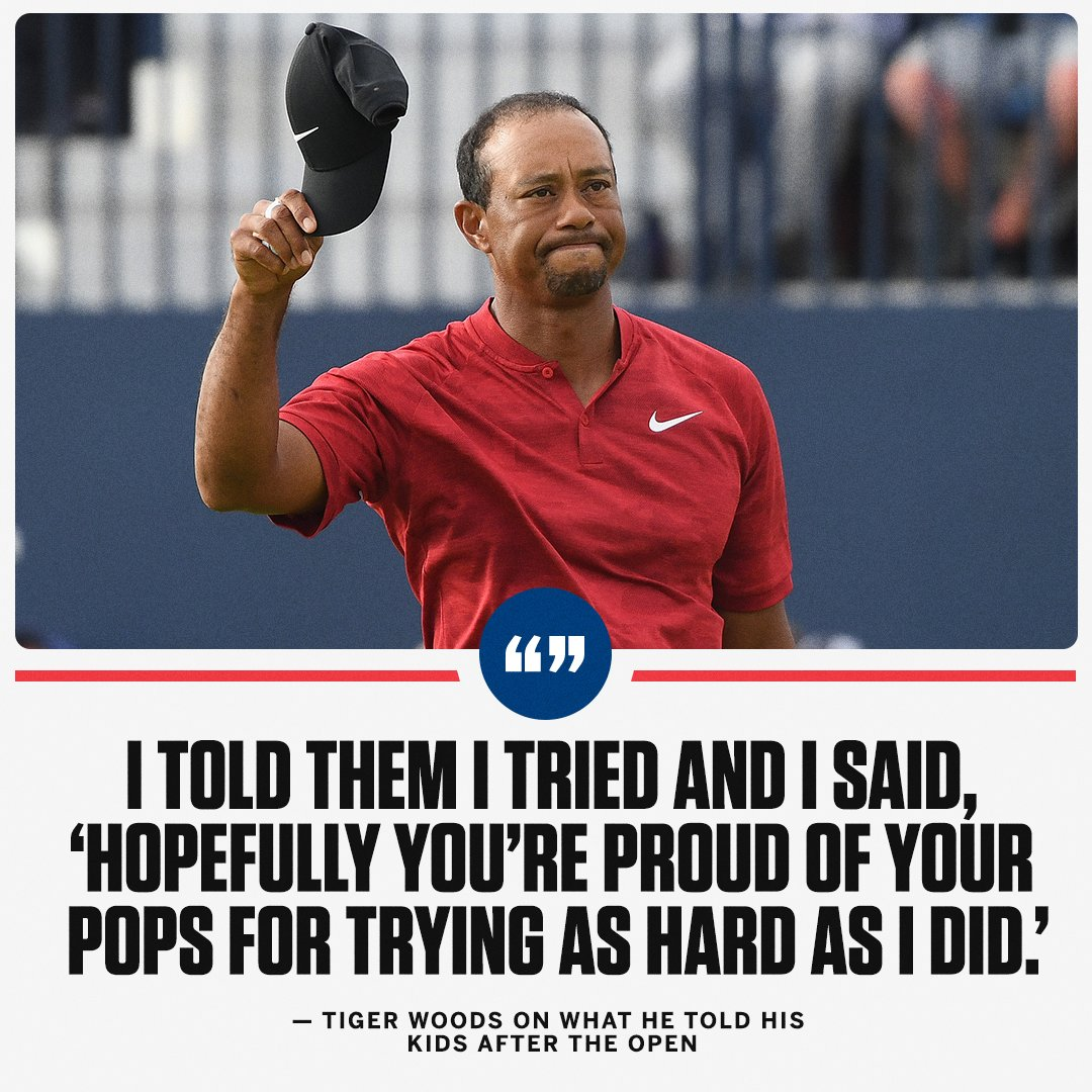It was an emotional day for Tiger.