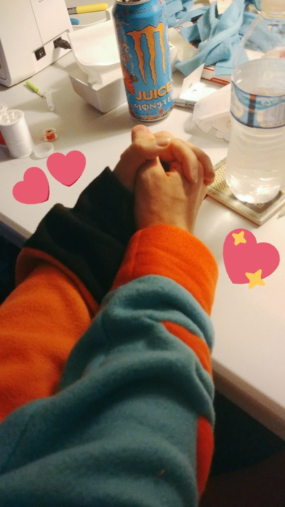 Working together! In kigus now that we both have one. Everything here is made with a whole lot of love &lt;3<br>http://pic.twitter.com/hHDF44KryT