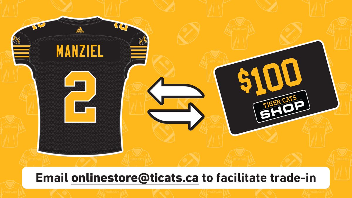 57aeee5719c0 ... a complimentary  100 gift card to make sure you re ready for the BIG  game this Saturday at  TimHortonsField. Email onlinestore ticats.ca and  we ll ...