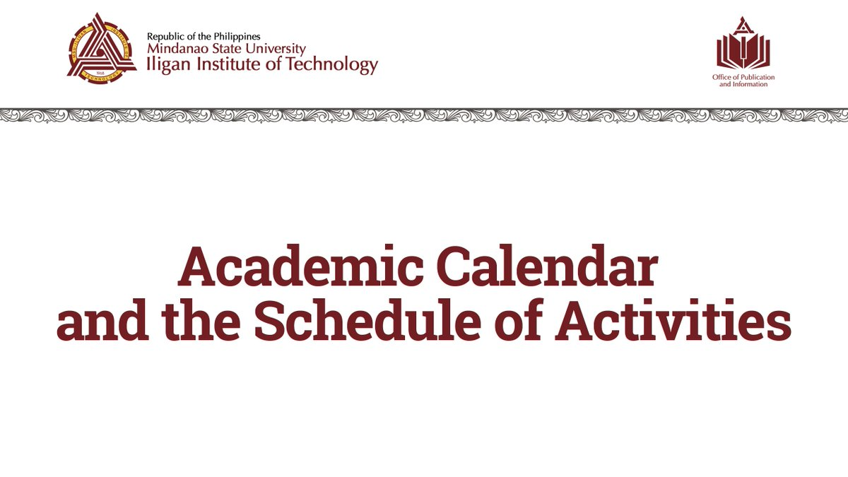 Msu Academic Calendar.The Msu Iit On Twitter The Academic Calendar And Schedule Of