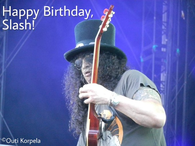 Happy Birthday to the one and only Slash!