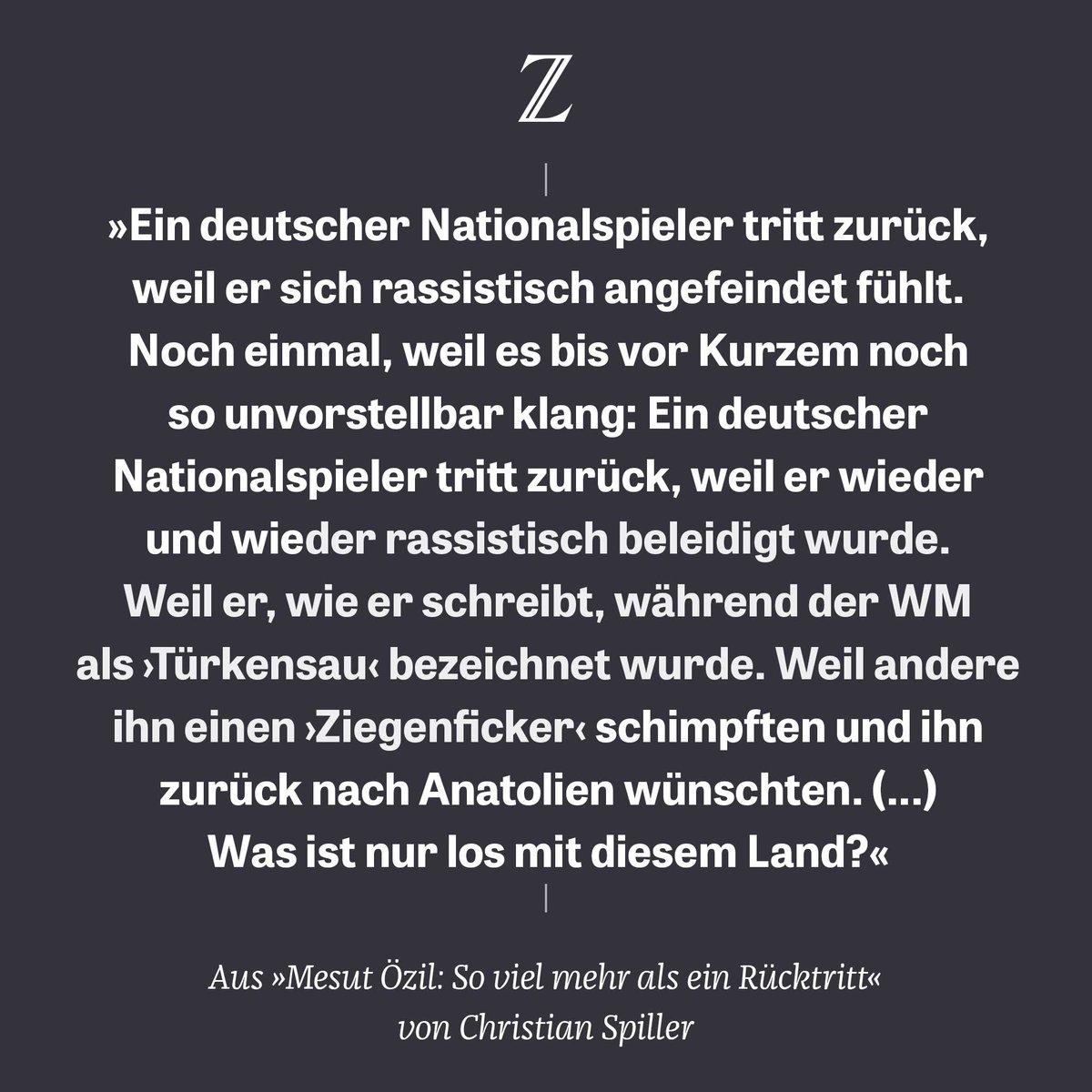 Erstmals tritt ein deutscher Nationalspieler zurück, weil er rassistisch angefeindet wurde. Der Rückzug von Mesut #Özil ist ein fatales Signal in einer besorgniserregenden Zeit, kommentiert @stammplatz: https://t.co/tYhE51AnKG