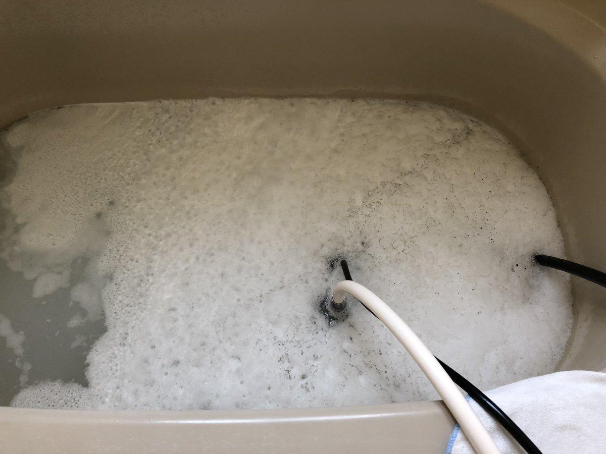 エコキュートや給湯器をお使いのみなさん🛀 お風呂のお湯の、汚れ・黒いカス・臭いに悩んでいませんか❓ もしかしたら、追い焚き配管の汚れが原因かもしれません😰 私は「マイクロバブル」を使ってお掃除しています✨ #北茨城 #高萩 #日立 #東海 #ひたちなか #常陸太田 #水戸 #いわき