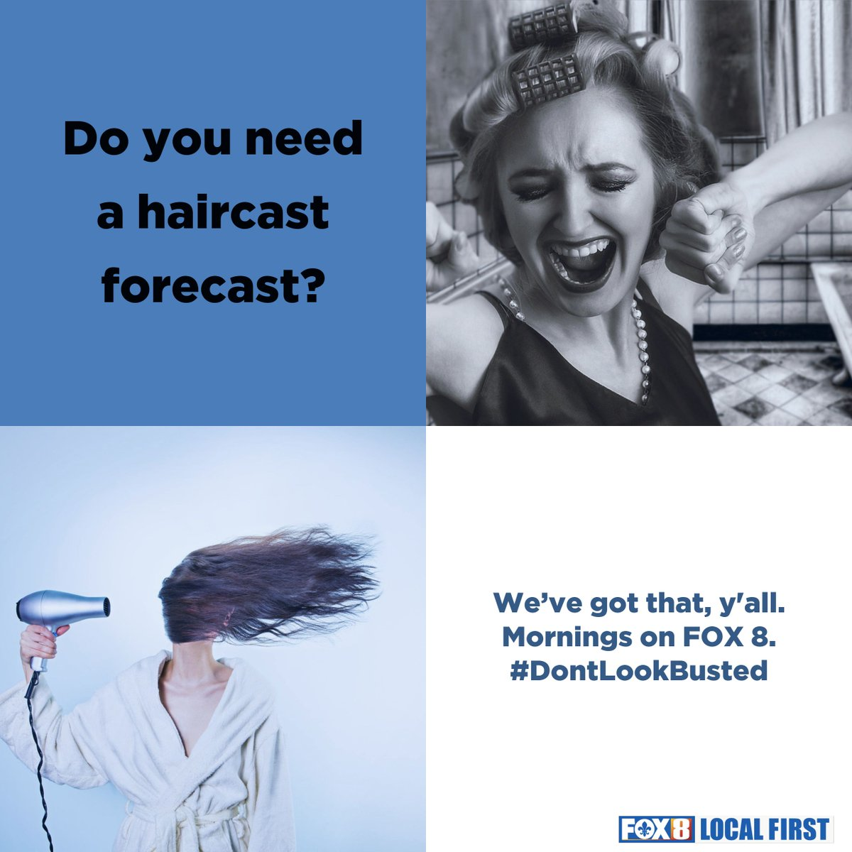 We are the only station that provides a morning haircast... that's right a weather forecast for your hair. You're welcome.   Watch Meteorologist Shelby Latino on the FOX 8 Morning Edition. Weekdays from 4:30-9 AM. https://t.co/FxzDblknZx