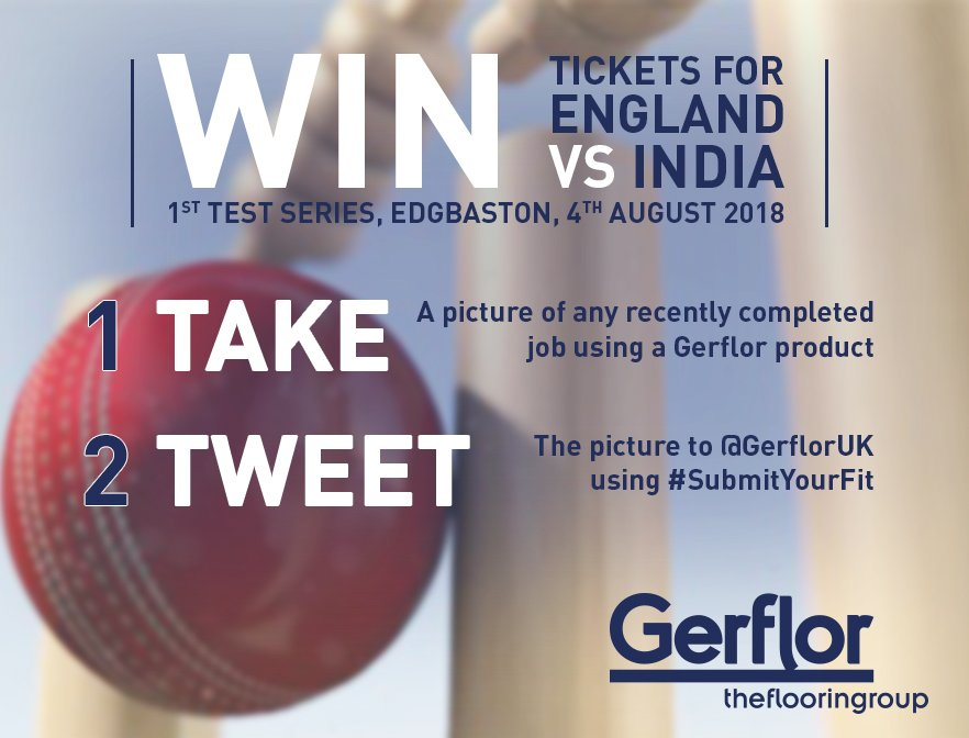 DON'T FORGET! There's still time to enter out #SubmitYourFit competition to win x2 England v India #Cricket tickets at Edgbaston! Simply post an image of our products in an installation, tag us and use #SubmitYourFit to be in with a chance to win! Hurry, entries close 27th July! https://t.co/duRPmeAr2u