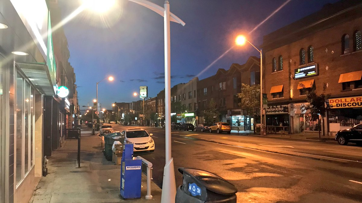 There's silence on Danforth Ave. in the early-morning twilight as police officers watch over the barricade at Broadview Ave. Some who live nearby are only beginning to fathom the chaos of last night's mass shooting.
