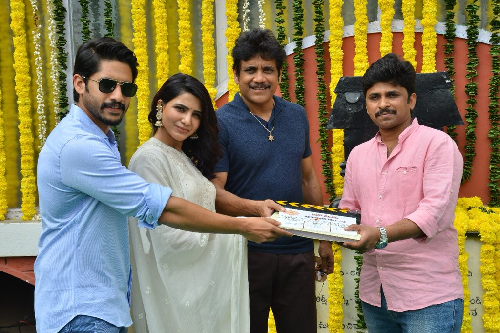 NC 17 movie with Samantha and Naga Chaitanya launched by Nagarjuna