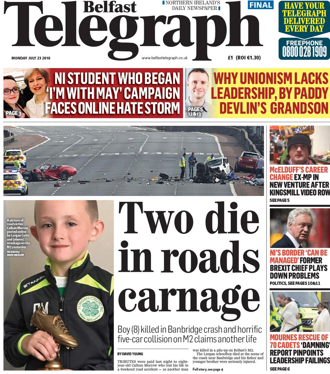 c17d7c2b4feb7 Stay with @beltel for all your breaking news. Here's a look at the front  page of the Belfast Telegraph this morning  https://www.belfasttelegraph.co.uk/ ...
