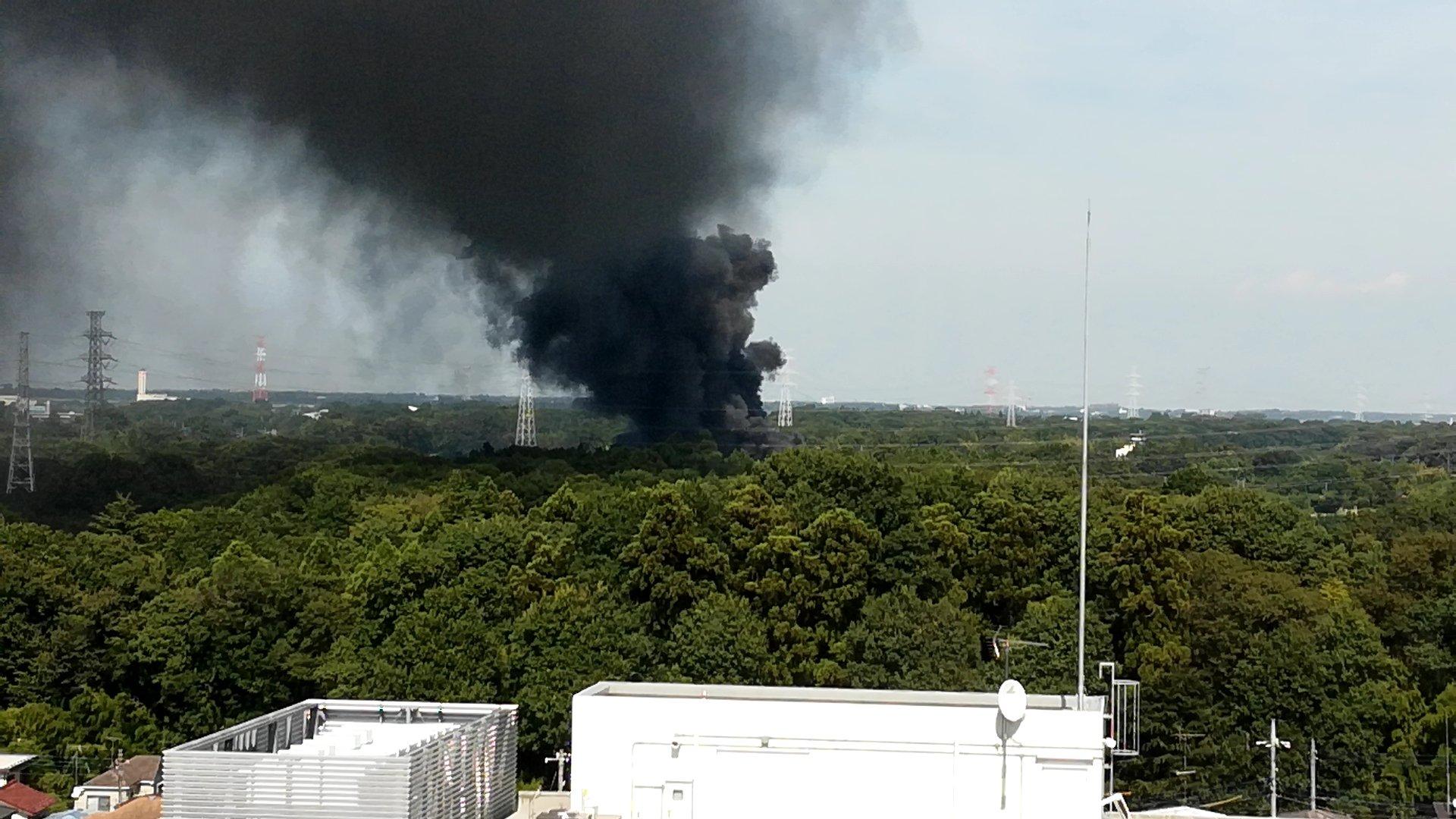 東京理科大学の野田キャンパスが火事の画像