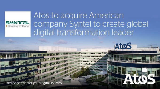 Atos is to acquire @SYNTEL, a leading digital company. #DigitalLeader  https://t.co/8VrErdxL7r...