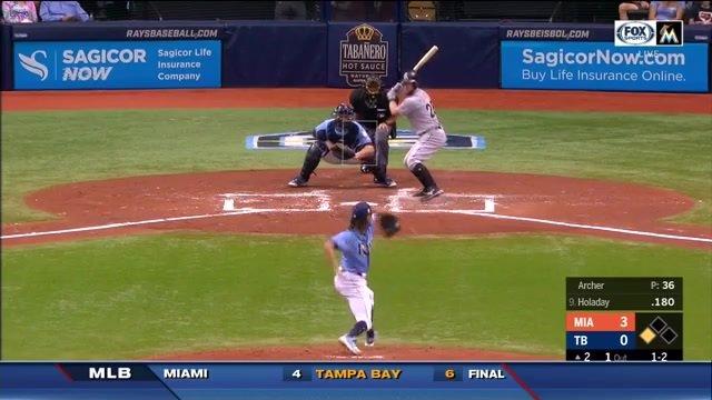 Daniel Robertson hits slam in 9th, Tampa Bay Rays beat Miami Marlins 6-4 https://t.co/Q4VKn55YXV