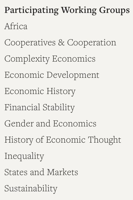 Next month there's another (!!) conference in Zimbabwe, hosted joint by the Young Scholar's Initiative and Economic Thinkers. Just look at the list of topics and tell us you don't want to go 😉 ineteconomics.org/events/ysi-afr…