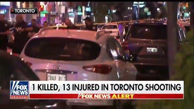 Mass shooting in Toronto; 1 killed and about 14 shot; gunman dead https://t.co/sk3ZN0tEYw https://t.co/k9mleiX1tJ